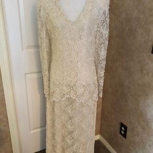 Beautiful lace and beaded dress